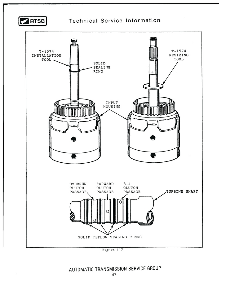 Turbine Shaft Teflon Seal Installer-Resizer Set GM T-1574 4L60